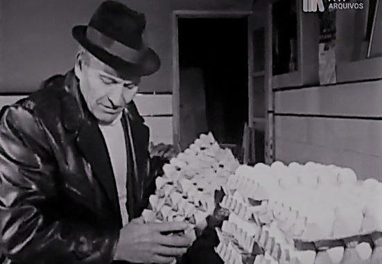 um vendedor de ovos